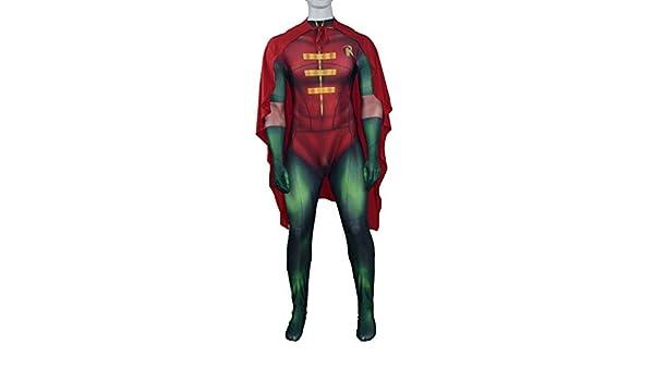QQWE Superhéroe Robin Traje Niño Maravilla Cosplay de Navidad ...