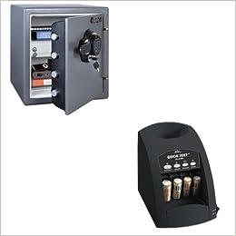kitrsico1000sensfw123gdc–Value Kit–Sentry Fire-Safe electrónico (sensfw123gdc) y Royal Sovereign rápida tipo co-1000one-row Coin Sorter (rsico1000)