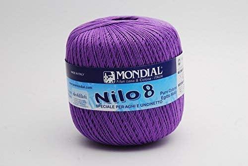 Mondial NILO - Hilo de ganchillo (algodón egipcio, talla 36-34 ...