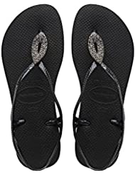 Havaianas Luna Special Womens Sandals Black