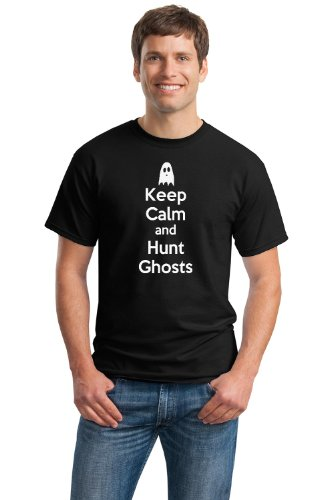 KEEP CALM AND HUNT GHOSTS Unisex T-shirt / Spooky Paranormal Ghost Hunting Tee