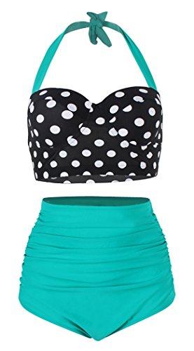 High Waisted Polka Dot Bikini Set in Australia - 9