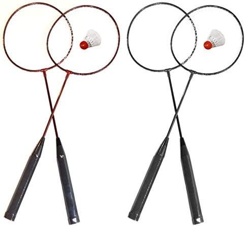 Gute Qualit/ät O/&W Security Badminton Set Federballspiel Federball 2 Schl/äger mit Federball ideal f/ür die ganze Familie Urlaub Garten Strand