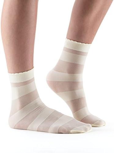 Cassie有機ニットミニクルーSheer Sock、カジュアル、パターン化、テクスチャSheer Sock for Everyday Wear