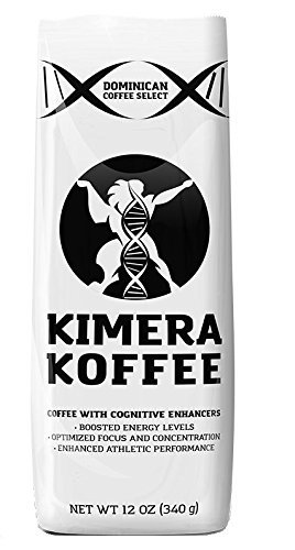 Nootropic Infused Ground Coffee (12oz), Rich, Organic Coffee Beans with Cognitive Enhancers to Boost Energy Levels, Brain Functi