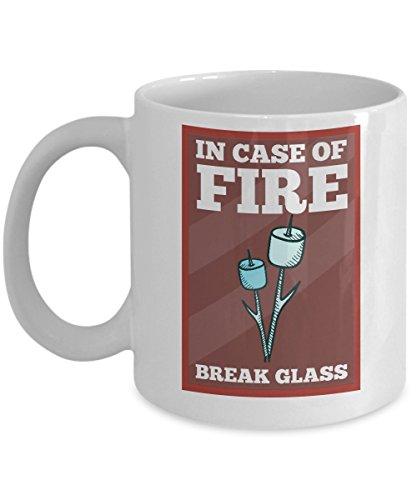 In Case Of Fire Break Glass (Marshmallow Sticks Inside) Mug