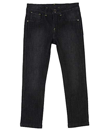 (3 Pommes Girl's Sparkly Denim Pants, Sizes 4-12 - 6 )