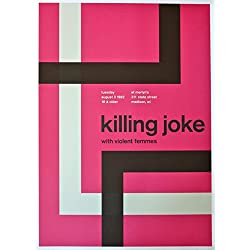 "Killing Joke - Violent Femmes - Live at Merlyn's - Concert Gig Poster - 10""x14"" - Madison 1982"
