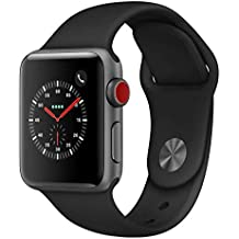 Apple Watch Series 3 (GPS + Cellular, 42MM) - Space Gray Aluminum Case with Black Sport Band (Renewed)