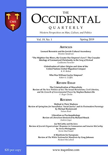 The Occidental Quarterly: Western Perspectives on Man, for sale  Delivered anywhere in USA