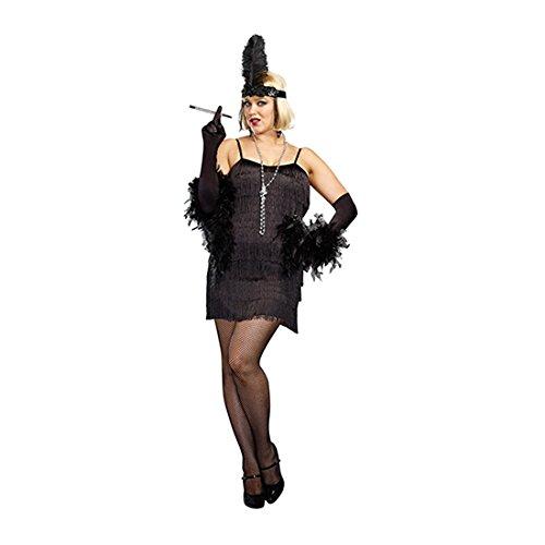 Black Flapper Plus Size Adult (Black Flapper Adult Plus Costumes)