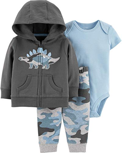 Carter's Baby Boys' Cardigan Sets (6 Months, Embroidered Dino)