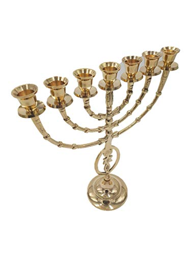 - Yaliland Grafted in Messianic Brass Copper Vintage Menorah 12