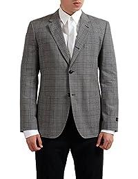 Multi-Color Checkered Two Buttons Men's Blazer