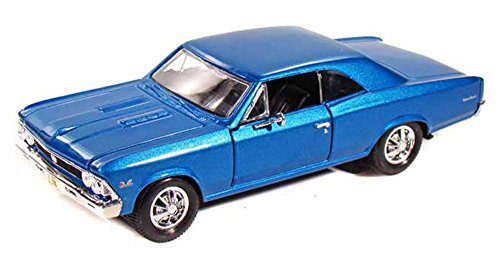 Maisto 1966 Chevy Chevelle SS396, Blue 31960 - 1/24 Scale Diecast Model Toy Car ()