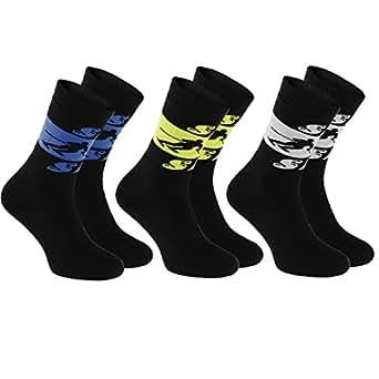 3 pares de Calcetines Frotte Ski, tamaños 36-38 NEGRO los Deportes de Invierno: Esquí, Snowboard, Hockey, Patinaje Sobre Hielo, Correr, Calcetines Calidos de Algodón de Invierno, Producción en la UE