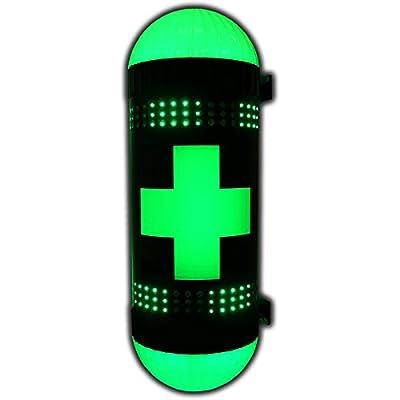 Green Cross Marijuana Weed 420 Pot Cannabis LED Dispensary Neon Bud Sign Bright Pole Store Shop Display