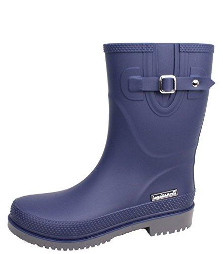 BOCKSTIEGEL® JETTE - Standard/K/KB Rubber boots for women | Wellies | Fashionable side buckle | Brand Logo | European production | Comfortable K blue / grey SwJGfn8WCD