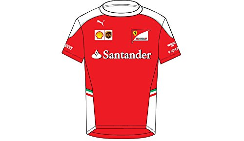 Puma Ferrari F1 Racing SF Team Kids T-Shirt Red (XS - F1 Ferrari Collection