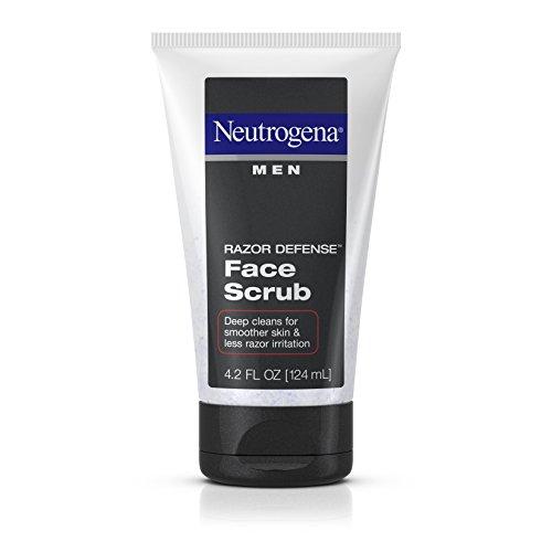 Neutrogena Men Razor Defense Face Scrub, 4.2 Fluid Ounce (Pack of 3)