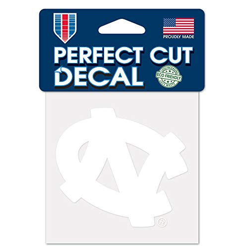 WinCraft NCAA North Carolina Tar Heels 4x4 Perfect Cut White Decal, One Size, Team ()