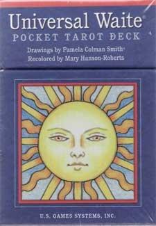 Party Games Accessories Halloween Séance Tarot Cards Universal Waite Pocket tarot deck by Smith & Hanson-Roberts by AzureGreen