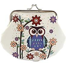 Hot sale!Todaies Women Retro Vintage Owl Leather Lady Small Wallet Hasp Purse Clutch Bag (14cmX12cm, B)