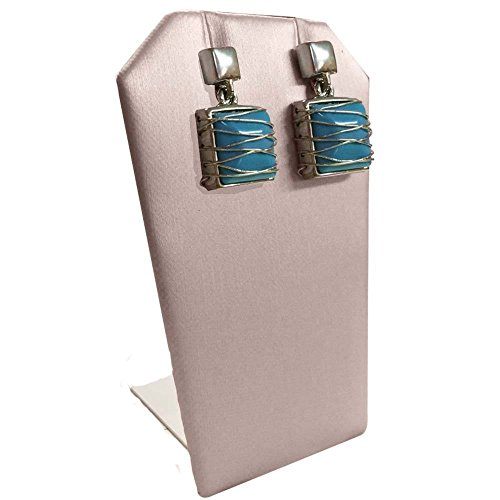 Pink Leather Jewelry Earring/Pendant Display - Display Stand Pendant Earring