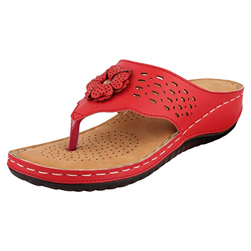 Shovio Women's Fashion Sandal (Red_4 UK) (B07X36DPQW) Amazon Price History, Amazon Price Tracker