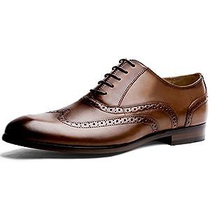 DESAI Brogues Homme Chaussures de Ville à Lacets Oxford