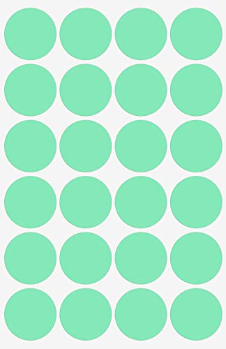 Color Coding Labels - Round Circle Dot Sticker in Pastel Green 25mm - 360 Pack by Royal Green