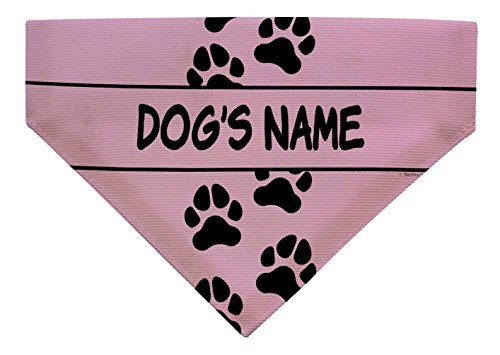 Personalized Dog Gifts Dogs Name Dog Collar Accessory Small Dog Bandana Customized Scarf Dogs Pink -
