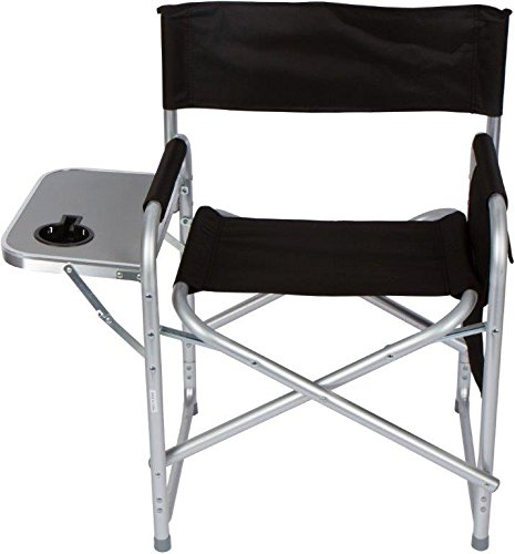Trademark-Innovations-METALDIREC-ROUND-Folding-Directors-Chair-with-Aluminum-Side-Table-Storage-Bag-and-Steel-Tubing