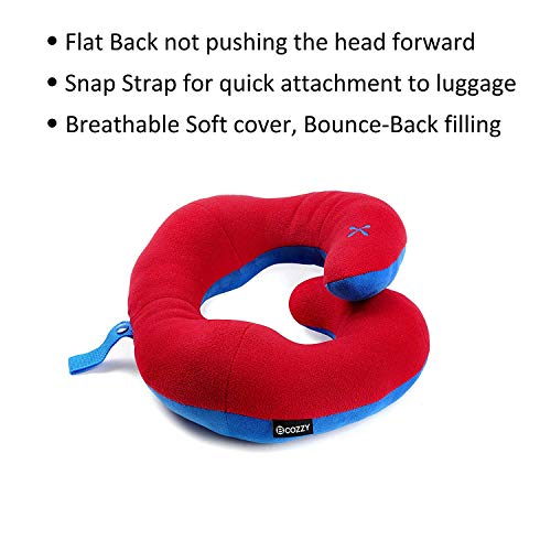 BCOZZY Chin Supporting Travel Pillow - Supports The Head, Neck and Chin in in Any Sitting Position. A Patented Product. (RED, Child) by BCOZZY (Image #5)