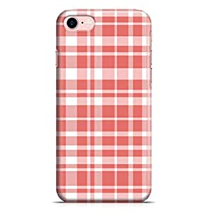 Loud Universe iPhone 7 Case Lovely Plaid Pattern Red Durable Light Weight Wrap Around iPhone 7 Cover