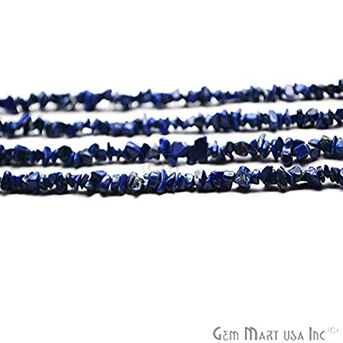 Chip Blue Lapis Lazuli (Single Starnd Natural Denim Lapis Chip Beads, 34 Inch Full Strand, Wholesale Price (CHLP-70001))