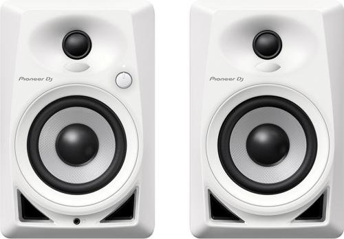 Pioneer DM-40-W PAIR 4' ACTIVE DESKTOP MONITOR SPEAKERS (WHITE)