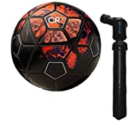 Max India Cr7 Hand Stitched Latex Bladder C 32 Panel Football with Cross Pump -5