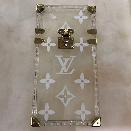 (Phone Case for iPhone XR, Vintage Monogram Luxury Designer Trunk Case for iPhone XR)