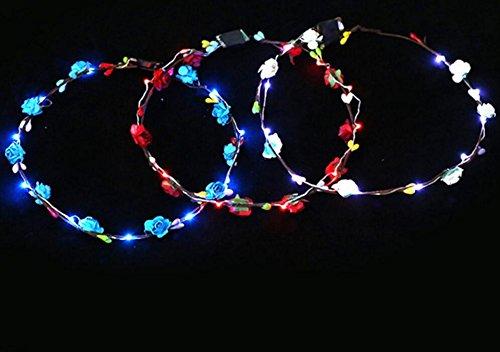 Un Parti Ncie Éclairage Led Décoration Cheveux Guirlandes De Mariée Demoiselle D'honneur Headdress_colorful