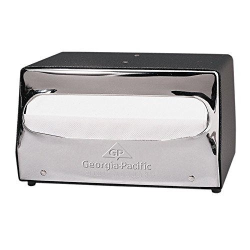 e Mini MorNap 51502 Mini Fold Table Model Napkin Dispenser, Black & Chrome ()