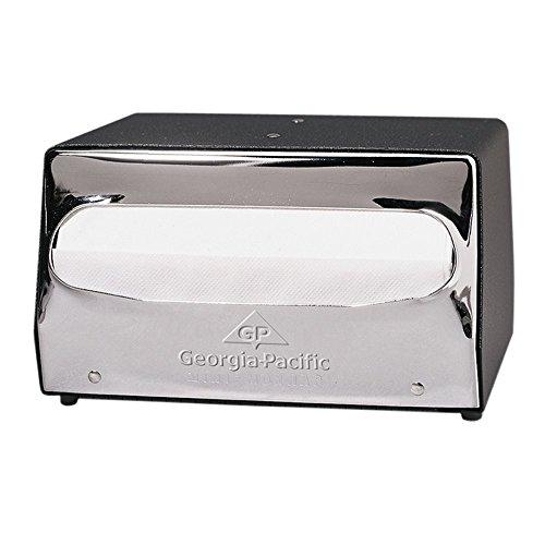 Napkin Full Tabletop Dispenser Fold - Dixie Mini Tabletop Full-Fold Napkin Dispenser by GP PRO (Georgia-Pacific), Black & Chrome, 51502, Holds 105 Mini-Napkins,7.500