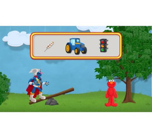 41QYTHZmTmL - LeapFrog Learning Game: Sesame Street Solve it with Elmo (for LeapPad Tablets and LeapsterGS)