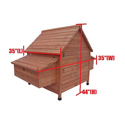 Ardinbir 62'' Deluxe Huge Solid Wood Chicken Coop / Hen House Duck Poultry Rabbit Hutch Cage with 6 Nesting boxes by Ardinbir (Image #8)