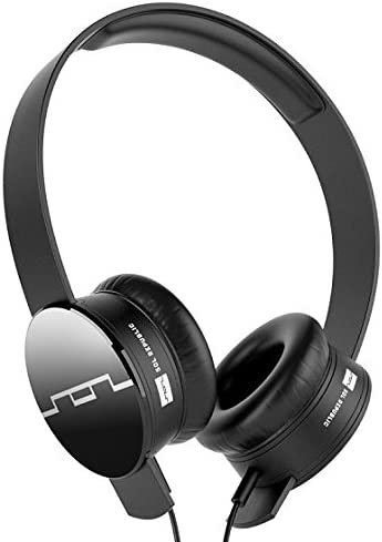 SOL REPUBLIC 1211-01 Tracks On-Ear Interchangeable Headphones with 3-Button Mic and Music Control – Black