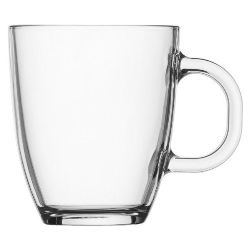 Bodum Bistro Glass Coffee Mug 0.35l, (0.35l Mugs)