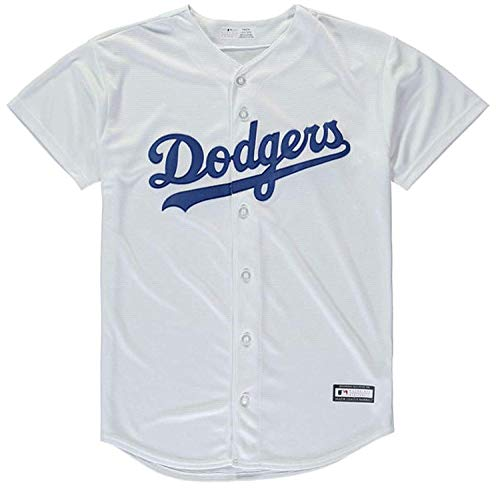 Outerstuff Los Angeles Dodgers Blank White Youth Cool Base Home Jersey (Small 8)