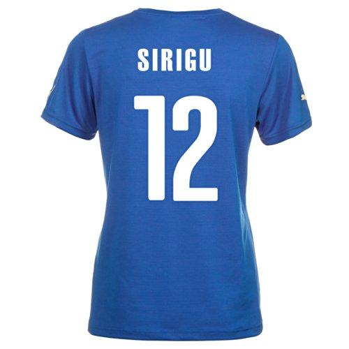幽霊生む考古学的なPuma SIRIGU #12 Italy Home Jersey World Cup 2014 (Women)/サッカーユニフォーム イタリア ホーム用 ワールドカップ2014 背番号12 シリグ レディース
