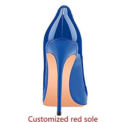 High Blue Heel Caitlin Slip Sexy Basic Pan Shoes 11 UK Dress On Court Size Red Formal Stilettos Shoes Toe B0tt0m Womens Pointed Pumps 3 1wzv1rqAx