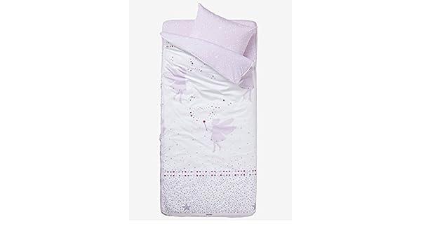 Vertbaudet Listo para dormir con nórdico Hada Blanco/Malva Claro 89: Amazon.es: Hogar